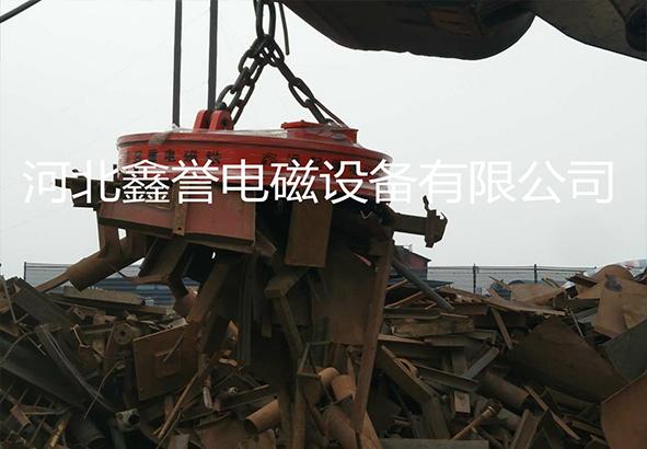 装载机专用起重电磁吸盘 吸废钢废铁用电磁铁吸盘